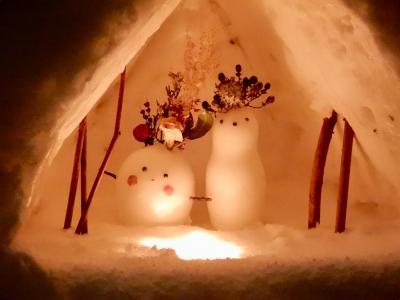 小樽 雪あかりの路  「観測史上最強レベル」という寒波の中 天狗山のオープニングセレモニーに行く  ⑦