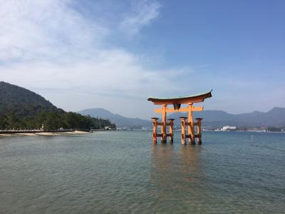 大鳥居大改修前の厳島神社へ!