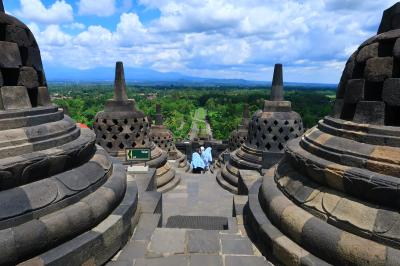 1歳4か月の娘と旧正月インドネシア11★18年ぶりのボロブドゥール ~Borobudur~