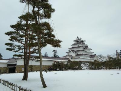 冬の会津城、東山温泉一泊二日