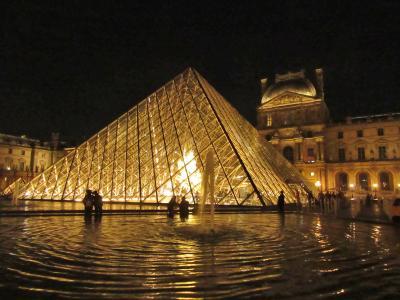 パリの街歩き2018(第7回)4日目午後・5日目(帰国)サンジェルマンとルーブル夜景 Town walk in Paris/Saint Germain,Louvre at night