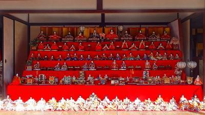 三田市 ひなめぐりin三田・・・旧九鬼家住宅資料館の雛飾り。