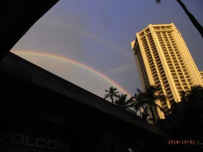 雨で始まるハワイ3日目