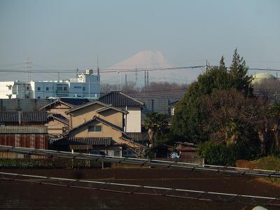 3月9日に見られた富士山