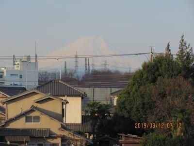 3月12日に見られた富士山