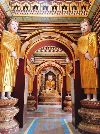2ヶ月連続ミャンマー!④モンユワ近くのおもしろ寺院と巨大立像