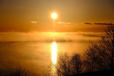 四角い太陽が見たくて! 氷点下20度での撮影~通行許可証をもらって野付半島の先っぽまで~以久科原生花園で流氷 ⑩
