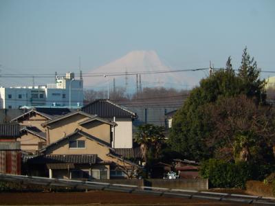 3月14日、ふじみ野市から見られた富士山