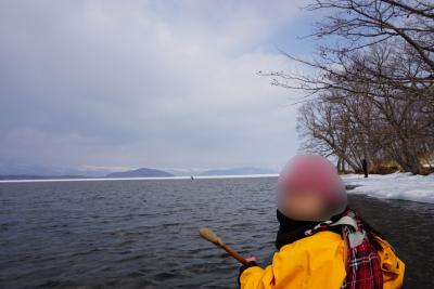 2019、冬の終わりに道東、弟子屈(てしかが)へ*孫と二人カヌーに乗ったよ