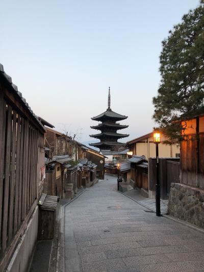 冬の京都散歩と早朝ランニング。