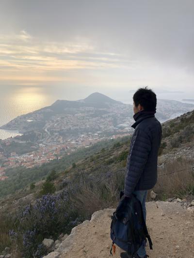クロアチア旅行 母息子at春休み②ドブロブニク スルジ山に登る