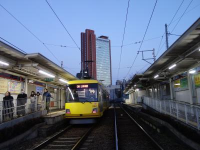 東京の路面電車。世田谷線。むかしは玉電といっていました。