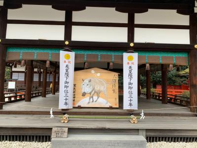 雪の京都で神社、カフェ巡り