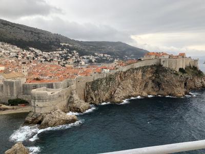 クロアチア旅行 母息子at春休み②の2 ドブロブニクの城壁巡り