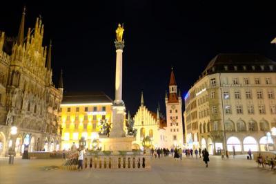 2019年02月ミュンヘン 夜のミュンヘンを歩く