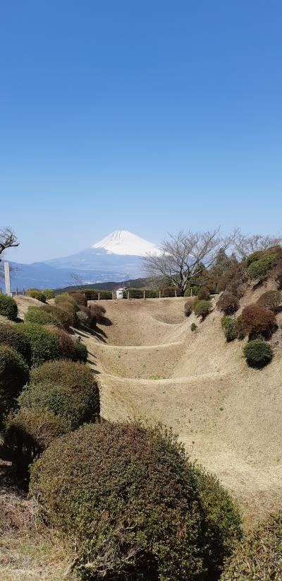 富士山を見に行こう②障子堀が美しい山中城址へ