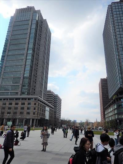 東京駅丸の内駅前広場から見られる風景