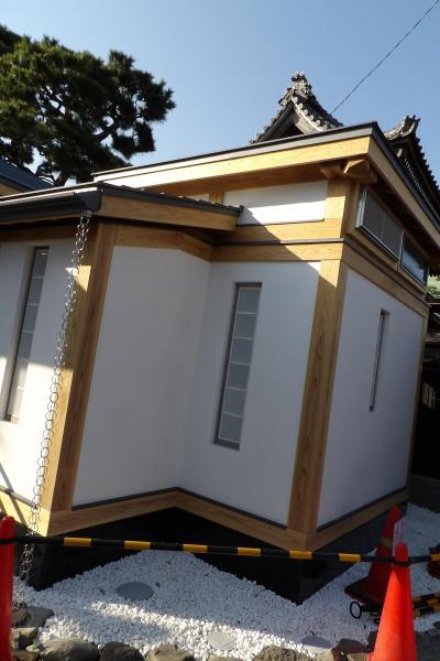 鎌倉本覚寺の公衆トイレは完成済みか?