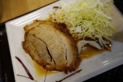 20190321-1 築地 小田保さん築地魚河岸店で朝のチャーシュー定食