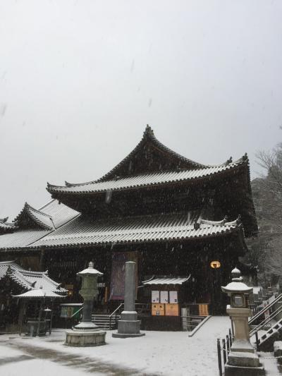 雪の長谷寺!