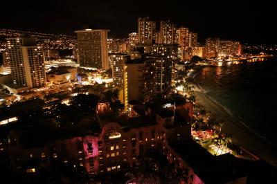 ハワイ島&オアフ島 シェラトンワイキキの夜景を堪能~JALビジネスクラスで帰国 編