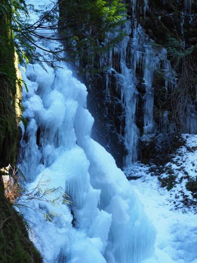氷の滝へ行く バンクーバー島2