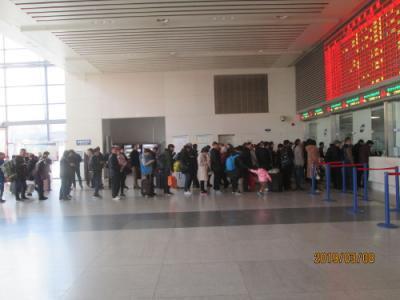 上海の上海駅・北口・再開発中・2019年