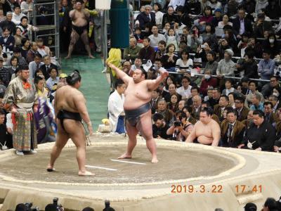 大相撲3月場所(大阪場所)に行ってきました。2019年3月22日(金) 13日目