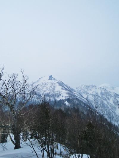 黒岳で初スノーシュー