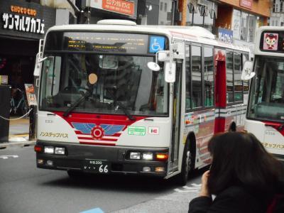 2019年 3月下旬 都内の狭隘路線バスに乗車