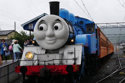 大井川鉄道で孫たちと機関車トーマスに乗ってみる