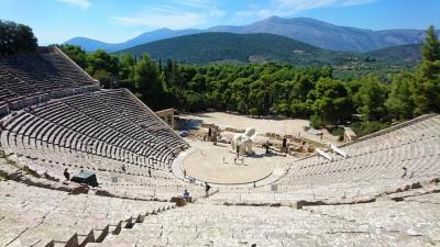永遠ブルーの空 ギリシャ(7) 医神アスクレピオスの聖域エピダヴロス