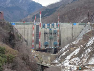2019年1月31日:関東道の駅スタンプラリー番外編7(中編) 建設も終盤戦に入った八ッ場ダム