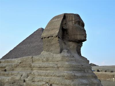 古代エジプト人に畏怖の念=神秘のエジプト・ナイル川クルーズ10日間 23(ギザ・スフィンクス)