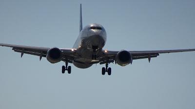 千里川土手で、伊丹空港に着陸する飛行機を撮影しました 下巻。