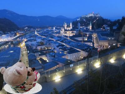 今度こそ癒されたい! バーデン&ザルツブルクひとり旅(10)メンヒスベルクの丘から見る旧市街の夜景