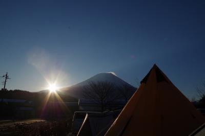 富士山のふもとでキャンプしました。