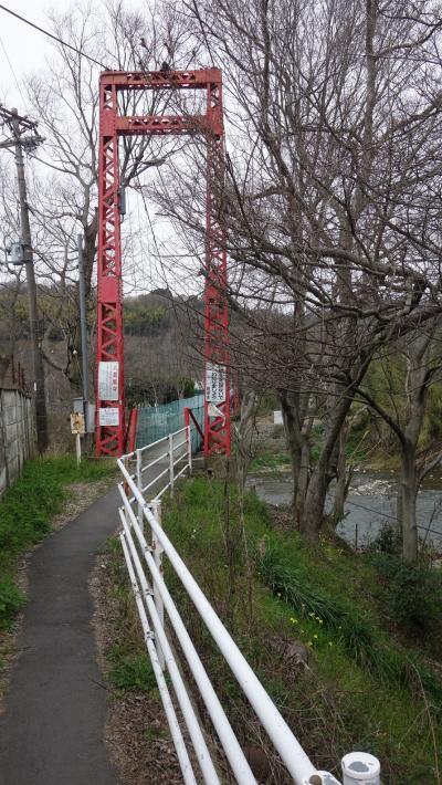 大阪で大和川と石川の吊り橋を行くと