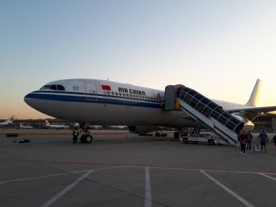 エアチャイナのビジネスクラス搭乗と北京の乗り継ぎホテル宿泊