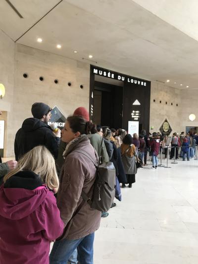 パリ8日間 アパートホテル暮らしの旅③美術館巡り1ルーブル美術館