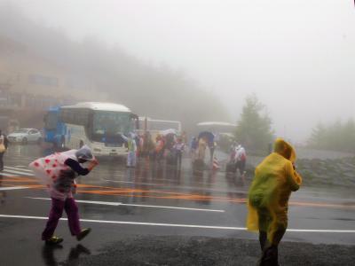 富士山 五合目 台風接近中!!⑩