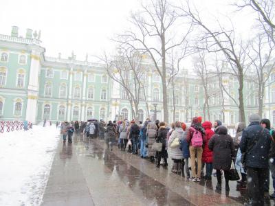 雪残るサンクトペテルブルク3泊5日(1)到着~2日目エルミタージュ美術館と市内観光編