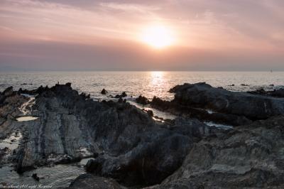 ごつごつ岩の荒崎海岸