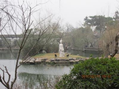 江南周遊(25)公園のトイレと西施像。