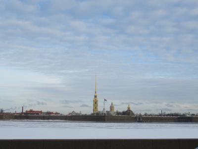 雪残るサンクトペテルブルク3泊5日(3)4日目最終日朝散歩と、乗り継ぎJUMBO編