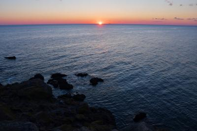 早春の函館の東端へ ~水平線からの日の出を拝む~