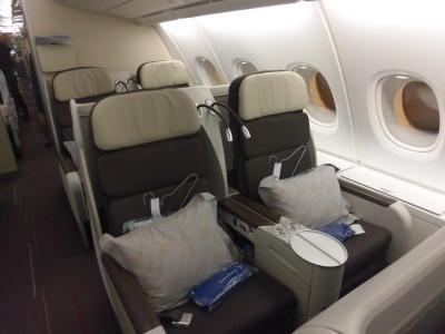 2018年中欧旅行②エールフランス111便 A380 上海浦東パリ ビジネスクラス搭乗記(11.08.2018 AF111 PVD-CDG)