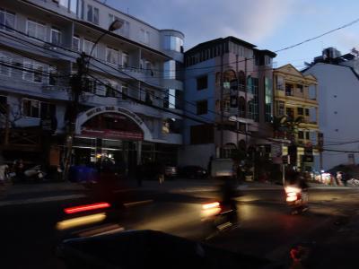 ダラット市内停電