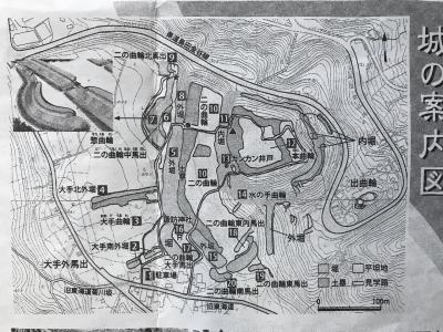 静岡県の城跡巡り:諏訪原城跡、想定外見応えのある丸馬出の遺構