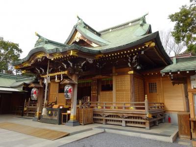 ヤマトタケルの旅 下総国1、市川国府跡、町なかの神社